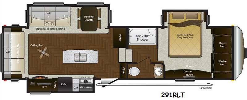 Mountaineer 291RLT Floorplan Image