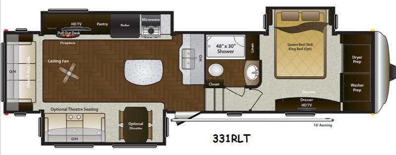 Mountaineer 331RLT Floorplan Image