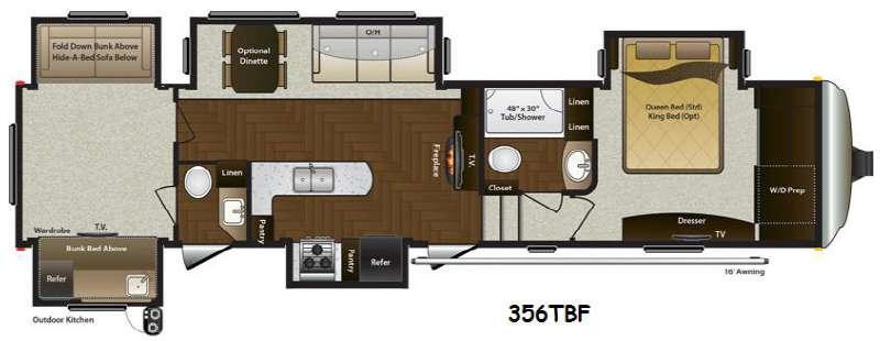 Mountaineer 356TBF Floorplan Image