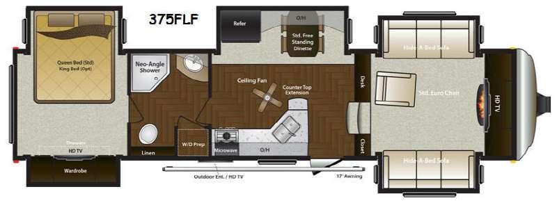 Mountaineer 375FLF Floorplan Image