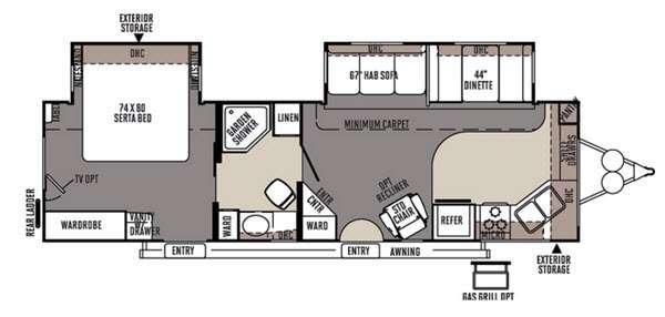 Floorplan - 2015 Forest River RV Rockwood Signature Ultra Lite 8315BSS