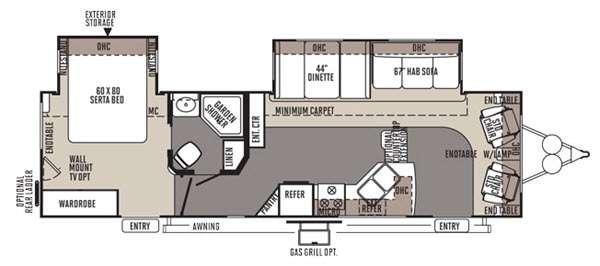 Floorplan - 2015 Forest River RV Rockwood Signature Ultra Lite 8319SS