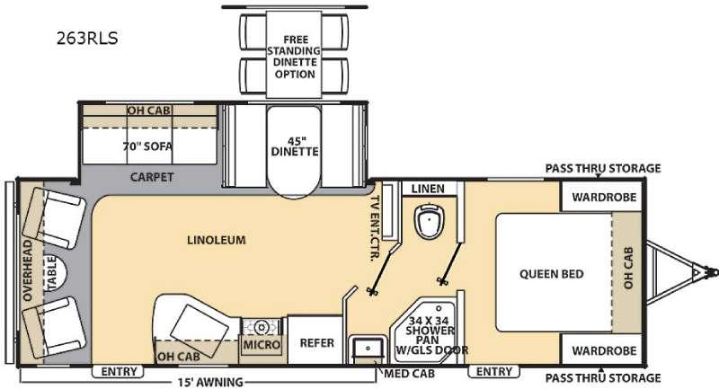 Floorplan - 2015 Coachmen RV Catalina 263RLS