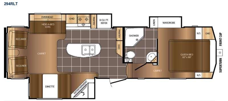 Floorplan - 2015 Prime Time Manufacturing Crusader 294RLT