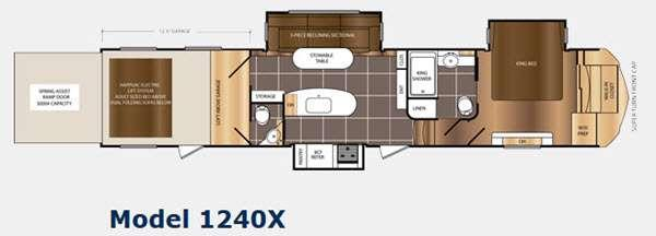 Floorplan - 2015 Prime Time Manufacturing Spartan 1240X