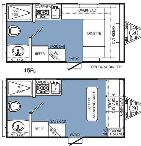Floorplan - 2015 Coachmen RV Clipper Ultra-Lite 15FL
