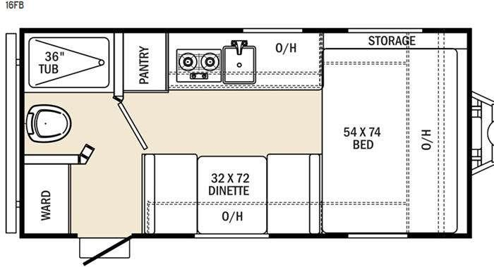 Floorplan - 2015 Coachmen RV Clipper Ultra-Lite 16FB