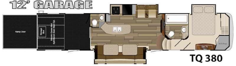 Floorplan - 2015 Heartland Torque TQ 380