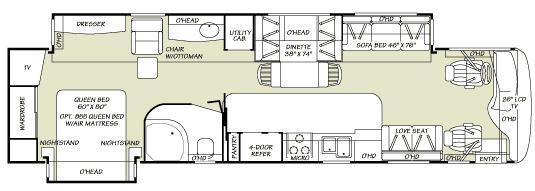 Floorplan - 2007 Fleetwood RV Bounder Diesel 38V