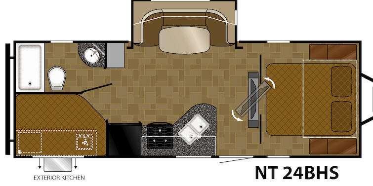 North Trail 24BHS Floorplan