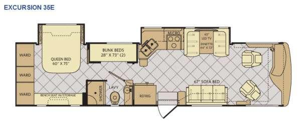 Floorplan - 2015 Fleetwood RV Excursion 35E