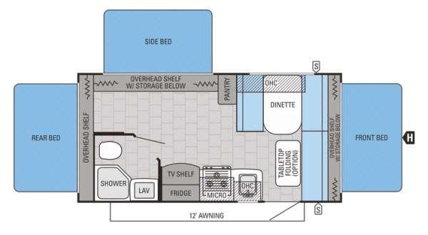 Floorplan - 2015 Jayco Jay Feather Ultra Lite X18D