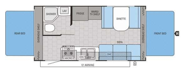 Floorplan - 2015 Jayco Jay Feather Ultra Lite X19H