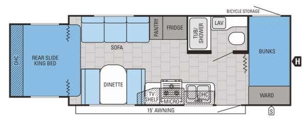 Floorplan - 2015 Jayco Jay Feather Ultra Lite X213