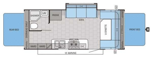 Floorplan - 2015 Jayco Jay Feather Ultra Lite X23B