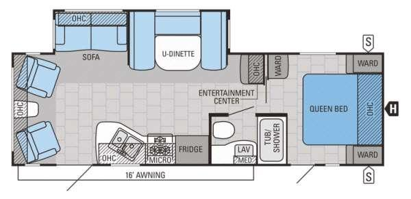 Floorplan - 2015 Jayco Jay Flight 26RLS
