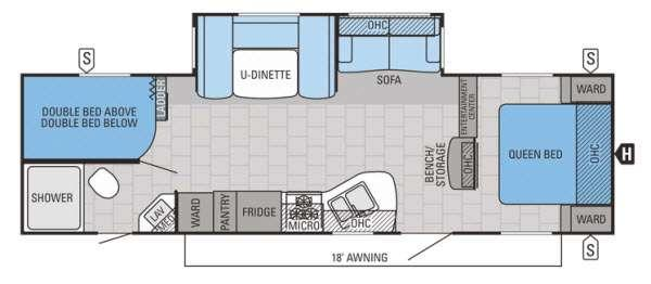 Floorplan - 2015 Jayco Jay Flight 28BHBE