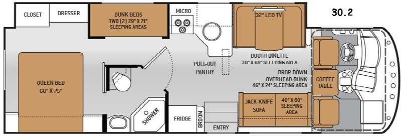 Floorplan - 2015 Thor Motor Coach ACE 30.2