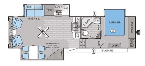 Floorplan - 2015 Jayco Eagle 31.5RLTS