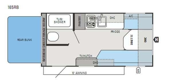 Floorplan - 2015 Jayco Jay Flight Swift SLX 165RB