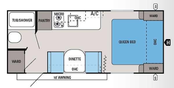 Floorplan - 2015 Jayco Jay Flight Swift SLX 195RB
