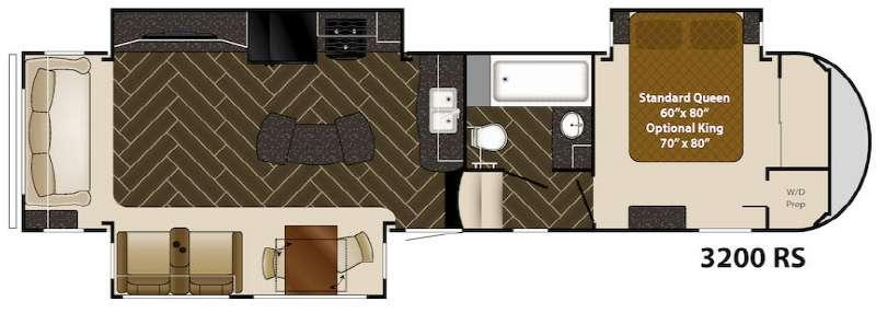 Floorplan - 2015 Gateway 3200 RS Fifth Wheel