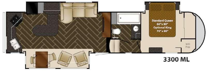 Floorplan - 2015 Heartland Gateway 3300 ML