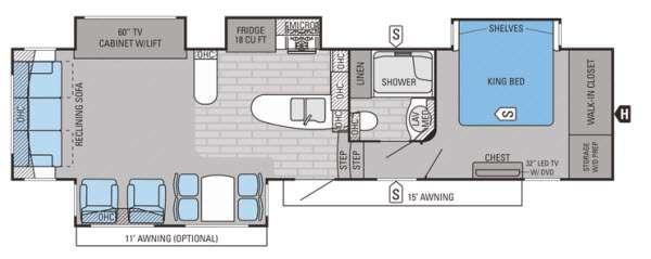 Floorplan - 2015 Jayco Pinnacle 36RSQS