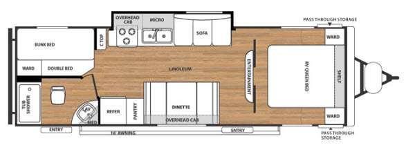Floorplan - 2015 Forest River RV Salem Cruise Lite 281BHXL