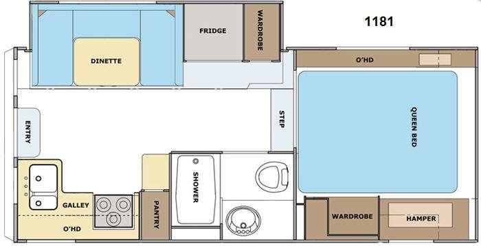 Floorplan - 2015 Lance 1181 Truck Camper