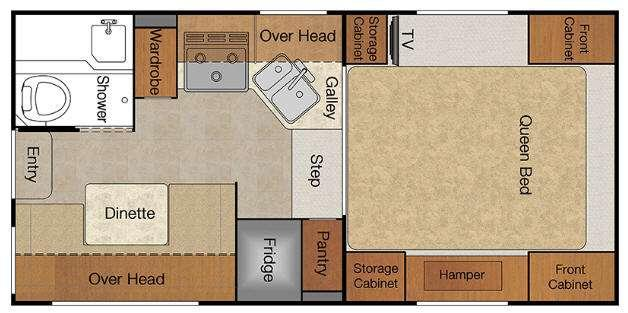 Floorplan - 2015 Lance 850