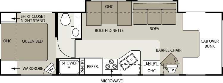 Floorplan - 2006 Four Winds RV Chateau 31P