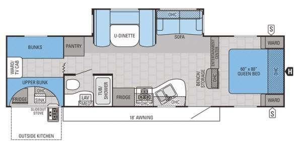 Floorplan - 2015 Jayco Jay Flight 29QBS