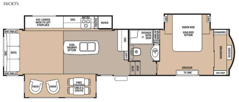 Floorplan - 2015 Forest River RV Cedar Creek 36CKTS