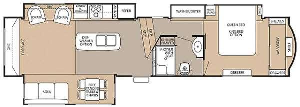 Floorplan - 2015 Cedar Creek 38RE Fifth Wheel