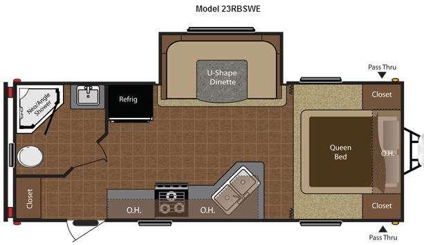 Floorplan - 2015 Keystone RV Hideout 23RBSWE
