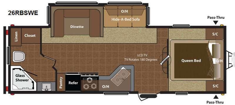 Floorplan - 2015 Keystone RV Hideout 26RBSWE