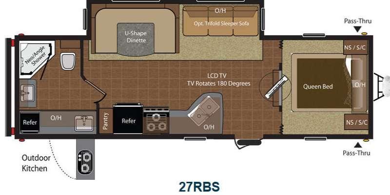 Floorplan - 2015 Keystone RV Hideout 27RBS