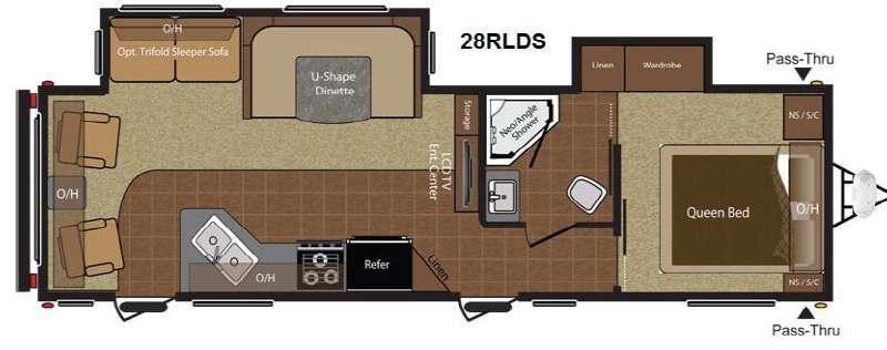 Floorplan - 2015 Keystone RV Hideout 28RLDS