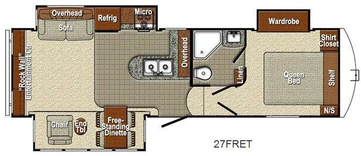 Canyon Trail 27FRET Floorplan