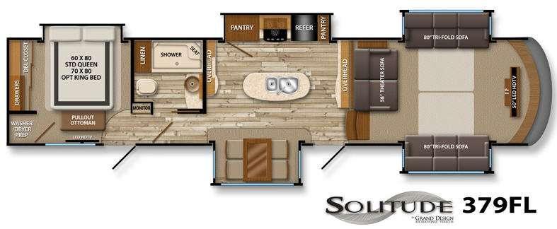 Floorplan - 2015 Grand Design Solitude 379FL