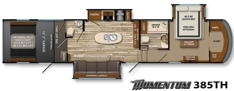 Floorplan - 2015 Grand Design Momentum 385TH
