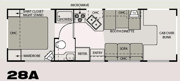 Floorplan - 2006 Four Winds RV Four Winds 5000 28A