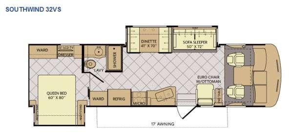 Floorplan - 2015 Fleetwood RV Southwind 32VS