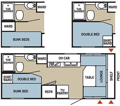 Floorplan - 2006 Starcraft  NXP 20DBB
