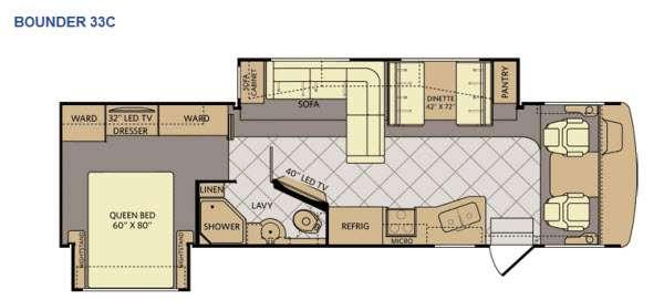 Floorplan - 2015 Fleetwood RV Bounder 33C