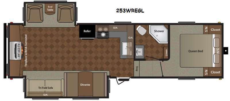 Floorplan - 2014 Keystone RV Springdale 253FWREGL