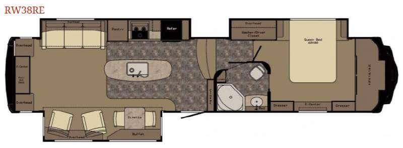 Floorplan - 2015 Redwood RV Redwood 38RE