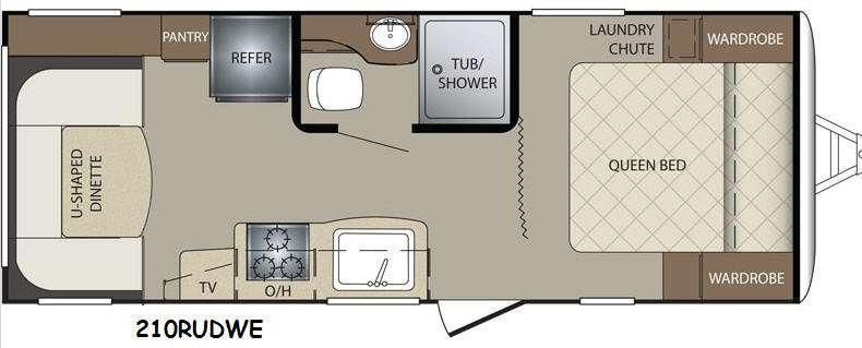 Floorplan - 2015 Keystone RV Bullet 210RUDWE