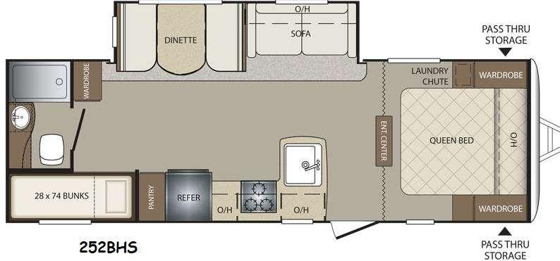 Floorplan - 2015 Keystone RV Bullet 252BHS